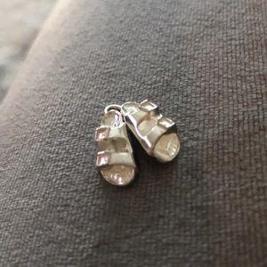 Sterling silver dangle Birkenstock sandal charm